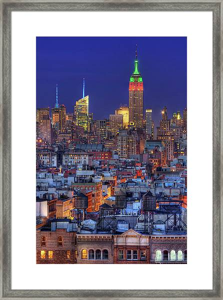 Empire State Building Hdr II Framed Print