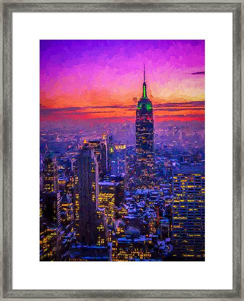 Empire State Building Framed Print by Michael Petrizzo