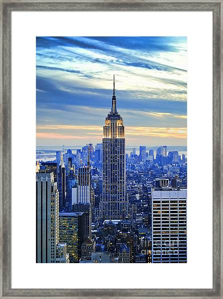 Empire State Building New York City Usa Framed Print
