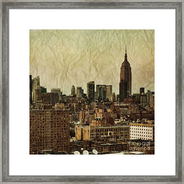 Empire Stories Framed Print