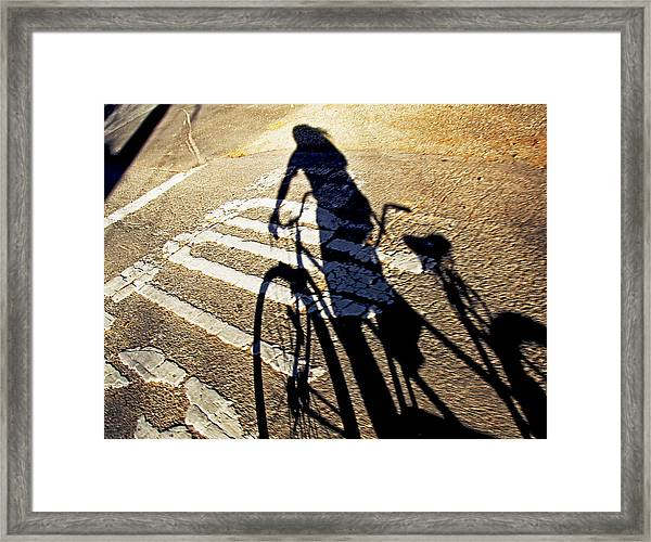 Emptiness Stop Following Me 2013 Framed Print