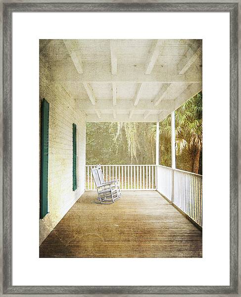 Empty Chairs Framed Print