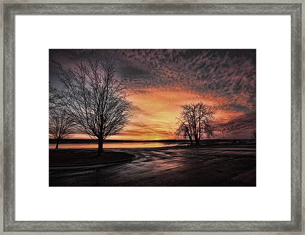 Empty Lot Sunset Framed Print
