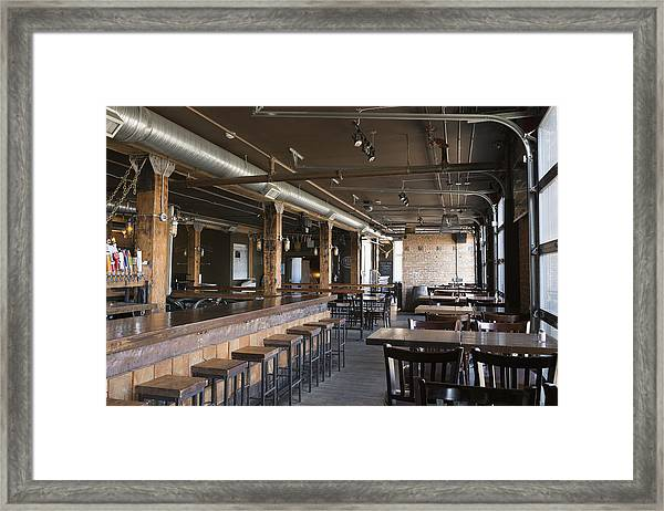 Empty Pub Framed Print by Hero Images