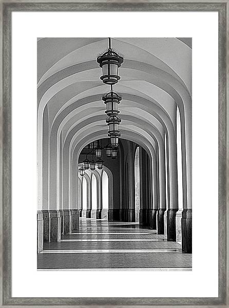 Empty Road Framed Print
