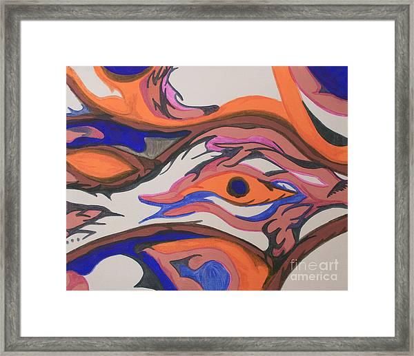 En Formation Framed Print