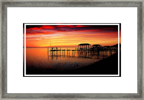 Enchanted Evening At The Hilton Pier Framed Print