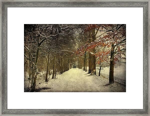 Enchanting Dutch Winter Landscape Framed Print