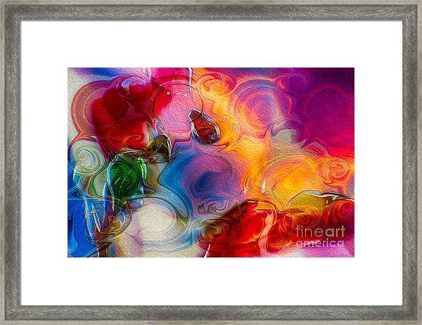 Enchanting Flames Framed Print