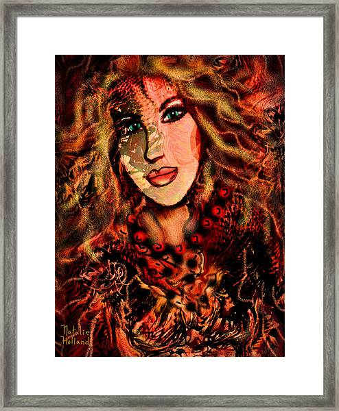 Enchanting Woman Framed Print