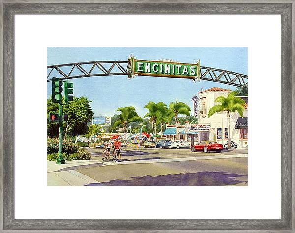 Encinitas California Framed Print