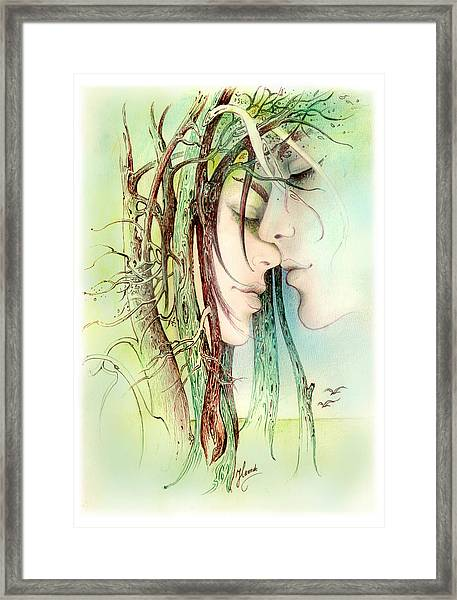 Encounter  From Love Angels Series Framed Print