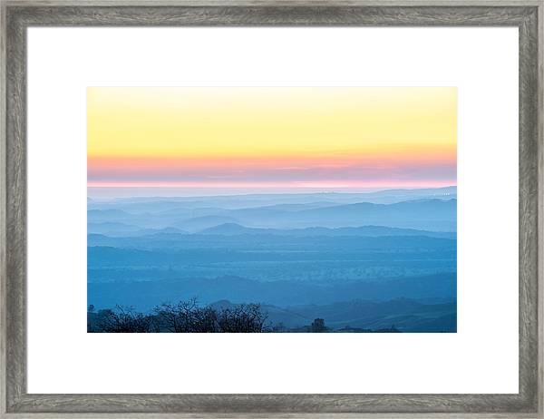 End Of Day Figueroa Mountain Framed Print