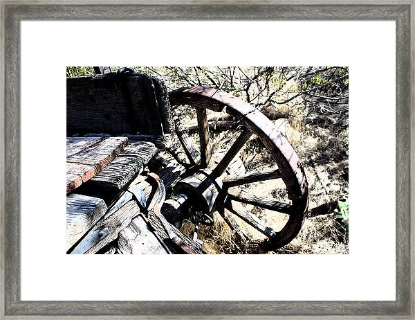 End Of The Trail Framed Print