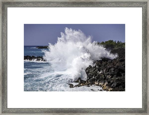 End Of The World Explosion Framed Print