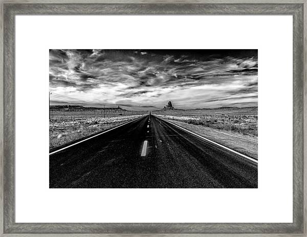 Endless Road Rt 163 Framed Print