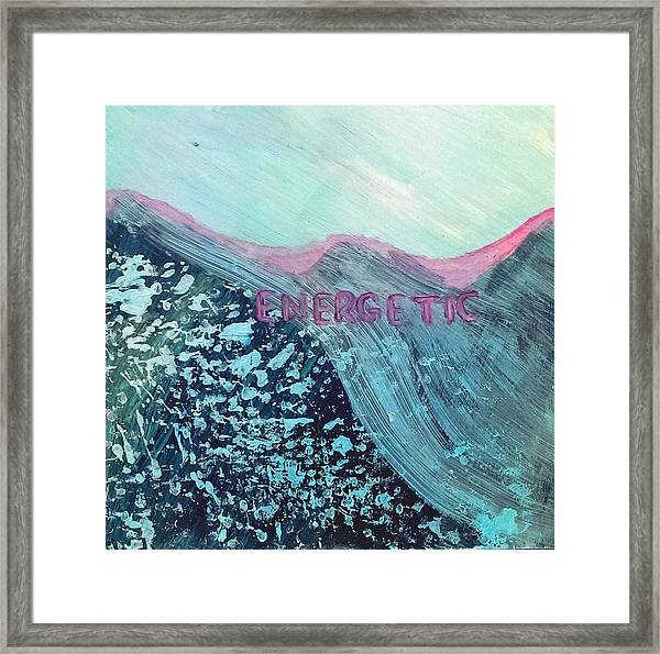 Energetic Framed Print by Lou Belcher