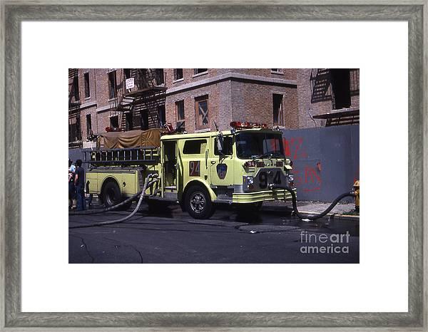 Engine 94 Fdny Lime Framed Print