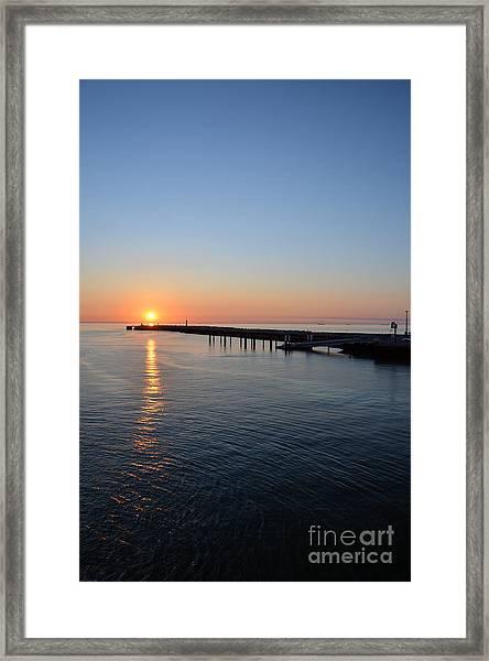English Channel Sunset Framed Print