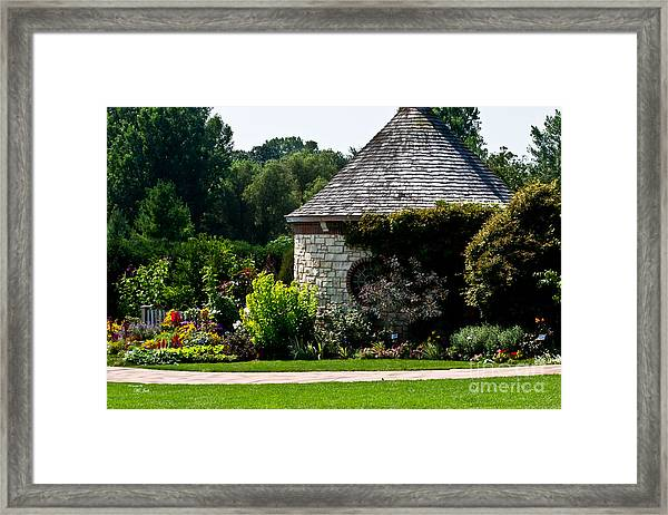 English Cottage Garden Framed Print