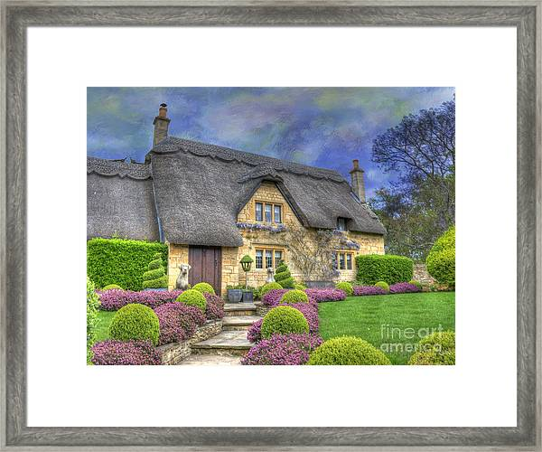English Country Cottage Framed Print
