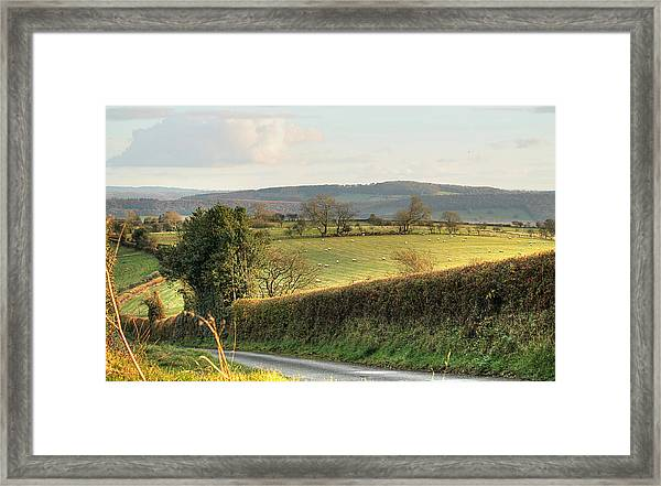 English Countryside In Early Winter Framed Print