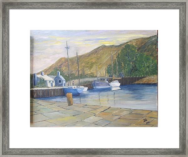 English Harbour Framed Print