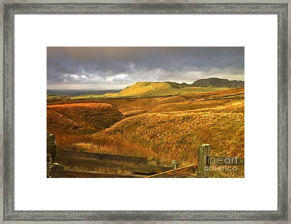 English Moorland Landscape Framed Print