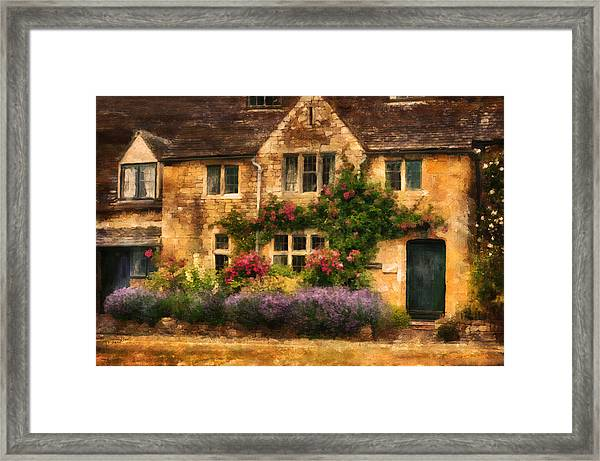 English Stone Cottage Framed Print