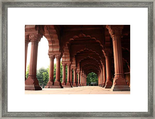 Engrailed Arches, Red Fort, New Delhi Framed Print