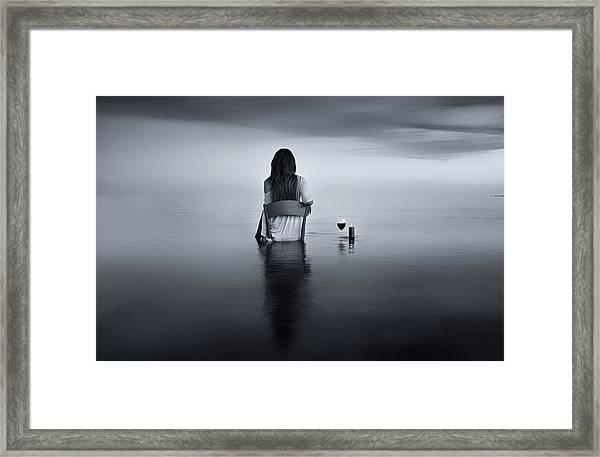 Enjoy The Silence Framed Print by Maria Kaimaki