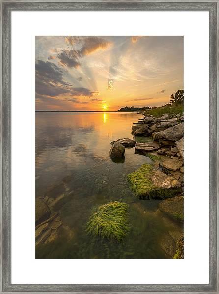 Enjoying Sunset Framed Print