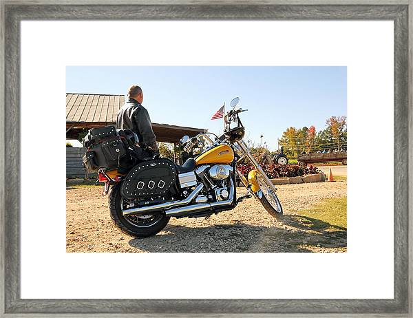 Enjoying The American Ride  Framed Print
