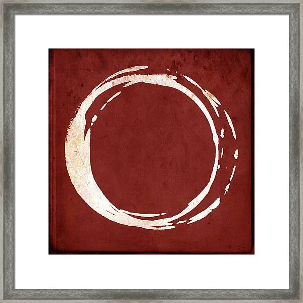 Enso No. 107 Red Framed Print