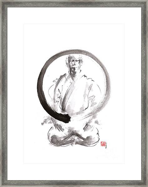 Enso. Zen Circle Martial Arts. Framed Print