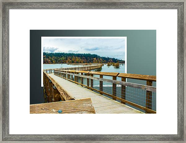 Framed Print featuring the photograph Landscape - Boardwalk - Enter Here by Barry Jones