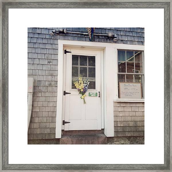 Enter Here Framed Print