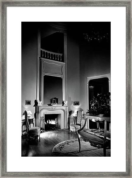 Entrance Hall Of Joan Bennett And Walter Wagner's Framed Print