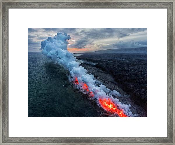 Entrance Of The Hell Framed Print by Xiaoxiaoliu