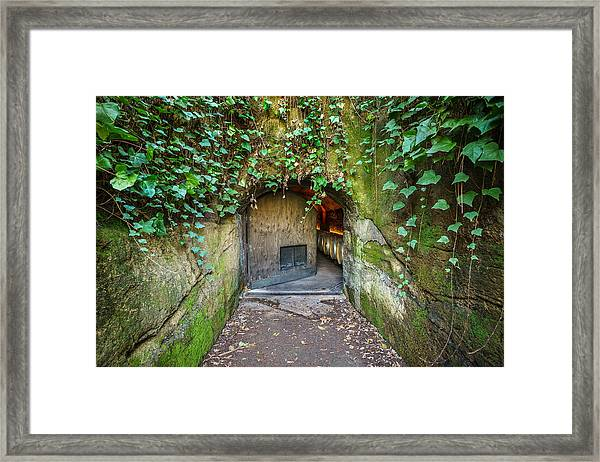 Entrance To A Winery Framed Print