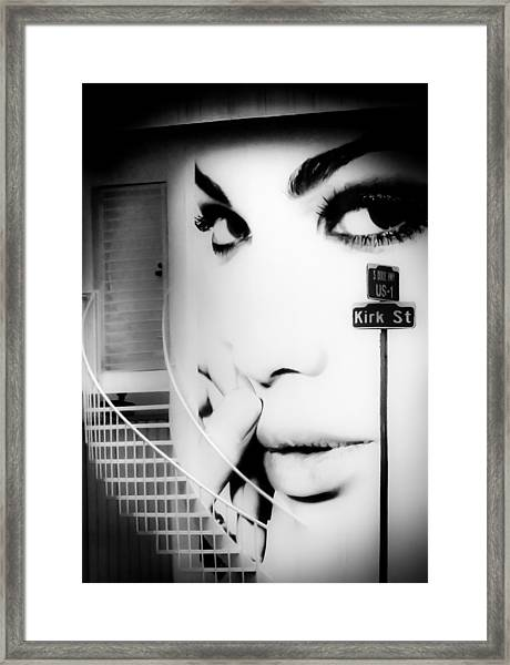 Entrance To A Woman's Mind Framed Print