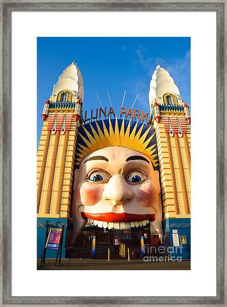 Entrance To Luna Park - Sydney - Australia Framed Print