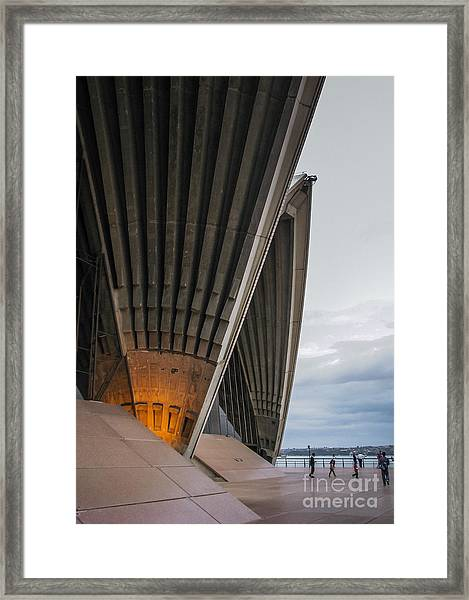 Entrance To Opera House In Sydney Framed Print