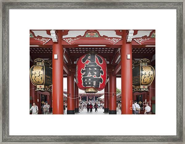 Entrance To Senso-ji Temple Framed Print