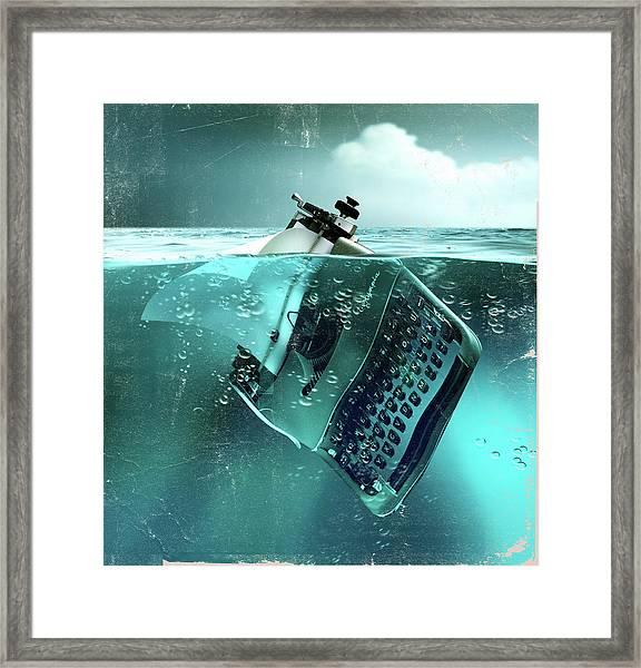 Environmental Writing Framed Print