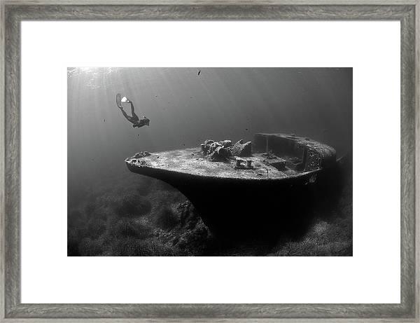 Epave De La Picorella - Picorella's Wreck Framed Print by Eric Volto