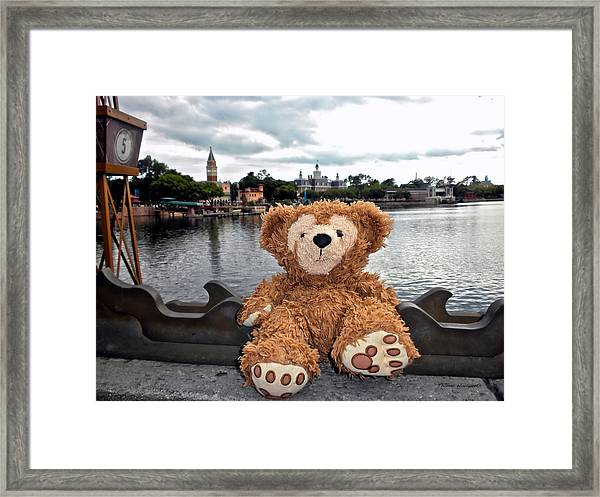 Epcot Bear Framed Print