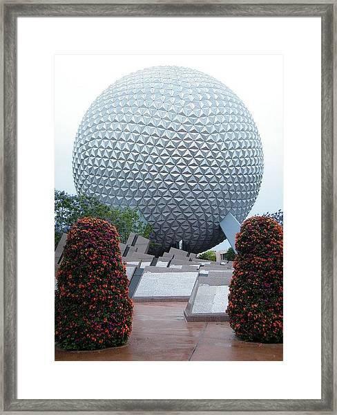 Epcot Globe Framed Print