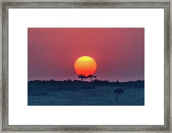 Equatorial Sunset Framed Print
