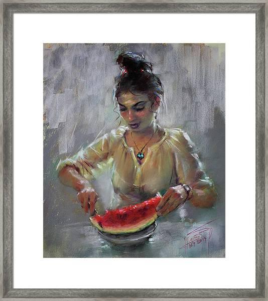 Erbora With Watermelon Framed Print